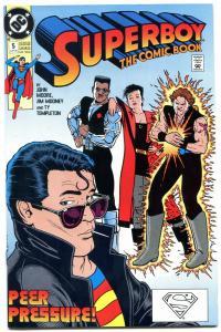 Superboy #5 1990- Wondergirl Romance begins- PEER PRESSURE cover