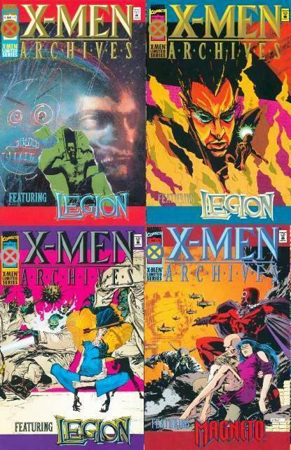 X MEN ARCHIVES (1995) 1-4  Claremont & SIENKIEWICZ