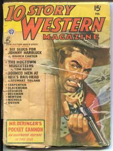 10 Story Western 2/1947-Popular-western pulp thrills-deringer feature-FR/G