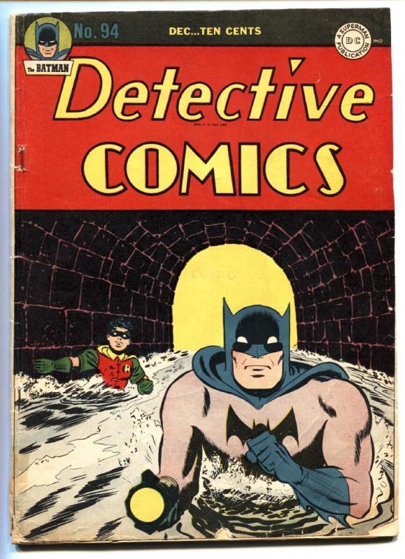 DETECTIVE Comics 94 1944 Batman Robin Golden Age Comic Book