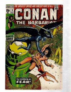 Conan The Barbarian # 9 VF Marvel Comic Book Barry Smith Red Sonja Kull J460