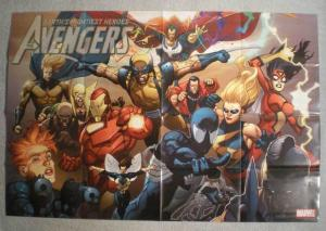 AVENGERS Promo Poster, THOR, WOLVERINE, 36x24, Unused, more in our store