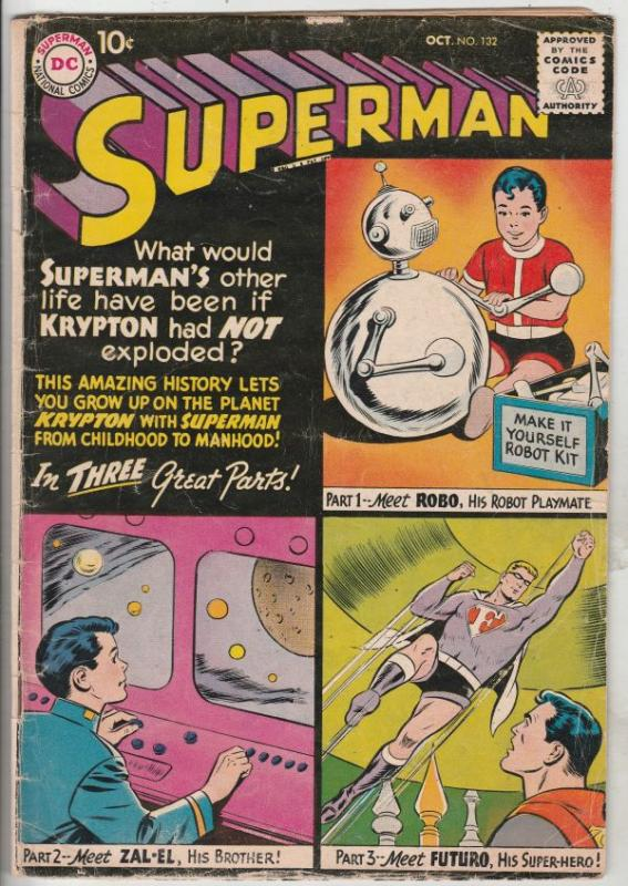 Superman #132 (Oct-59) VG+ Affordable-Grade Superman