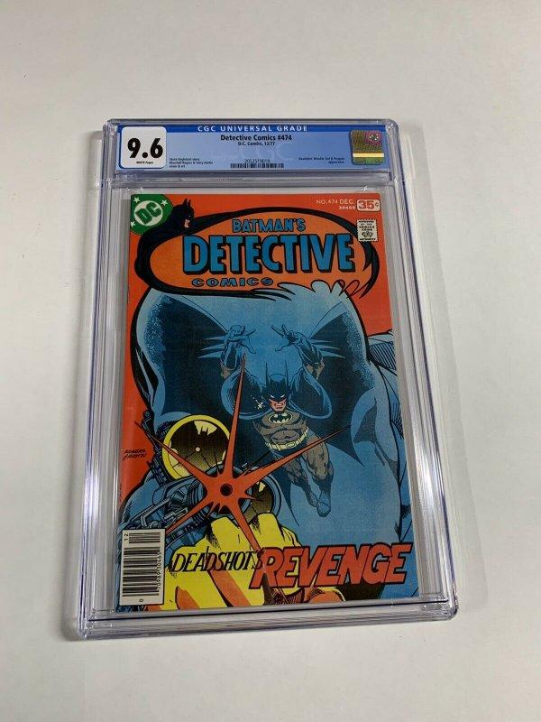 Detecrive Comics 474 Cgc 9.6 White Pages 2052519019 Batman 1st Deadshot Dc Comic