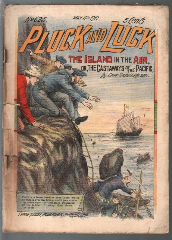 Pluck and Luck #623 5/11/1910-Tousey-Oriental menace cover-pulp fiction-P/FR