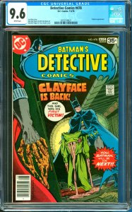 Detective Comics #478 CGC Graded 9.6 Clayface appearance
