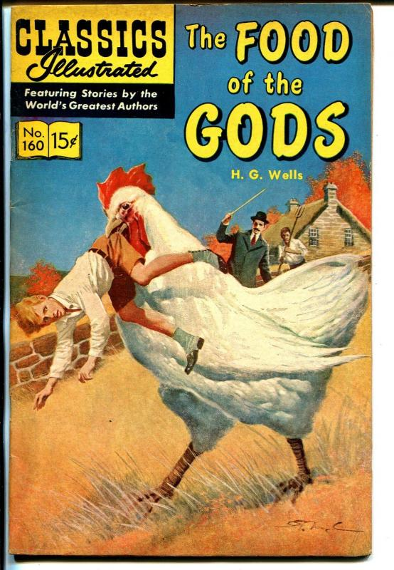 Classics Illustrated #160 1961-Gilberton-Food of The Gods-Wells-HRN 159-1A-VF
