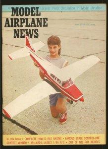 Model Airplane News June 1962 Piper Comanche Cover
