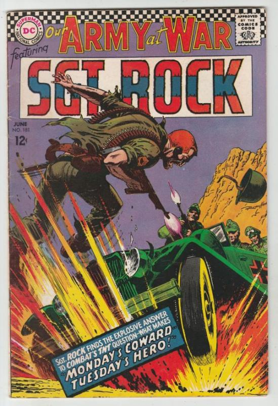 Our Army at War #181 (Jun-67) FN/VF Mid-High-Grade Easy Company, Sgt Rock