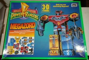 Mighty Morphin Power Rangers Megazord 3 - D Interlocking Figure RoseArt