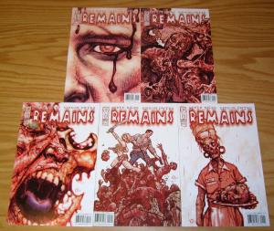 Remains #1-5 VF/NM complete series STEVE NILES zombies in reno nevada 2 3 4 set