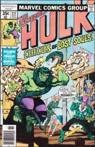 Marvel THE INCREDIBLE HULK (1968 Series) #217 FN
