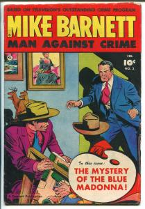 Mike Barnett Man Against Crime #2 1952-Fawcett-TV series-VG/FN