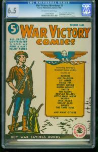 War Victory Adventures #1-CGC 6.5 2nd Highest Graded -Southern States 1197194004