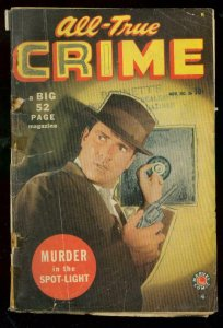 ALL-TRUE CRIME #36 1949-MARVEL COMICS-MURDER SPOTLIGHT FR/G
