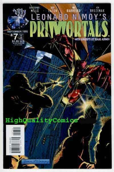 PRIMORTALS #7, NM+, Isaac Asimov, LEONARD NIMOY, 1995, more Indies in store