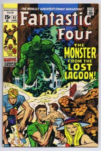 Fantastic Four #97 ORIGINAL Vintage 1970 Marvel Comics 1st Monster From Lagoon