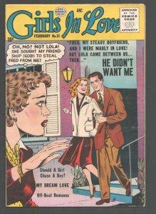 Girls In Love #51 1956-Quality-Off Beat Romance-Nice art-VG/FN