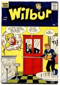 Wilbur #68 1958 Archie-soda shop-phone booth-Katy Keene-Linda & Laurie-VG
