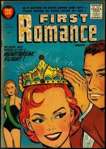 First Romance #36 1955-Harvey Comics-Crown Cover- Powell VG/FN