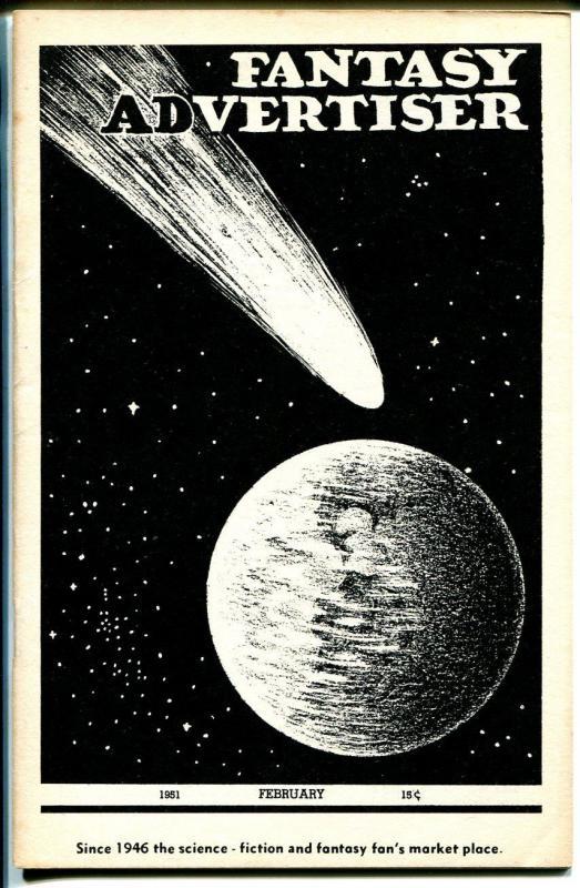 Fantasy Advertiser 2/1951-pulps for sale fanzine-1920 pulps-FN