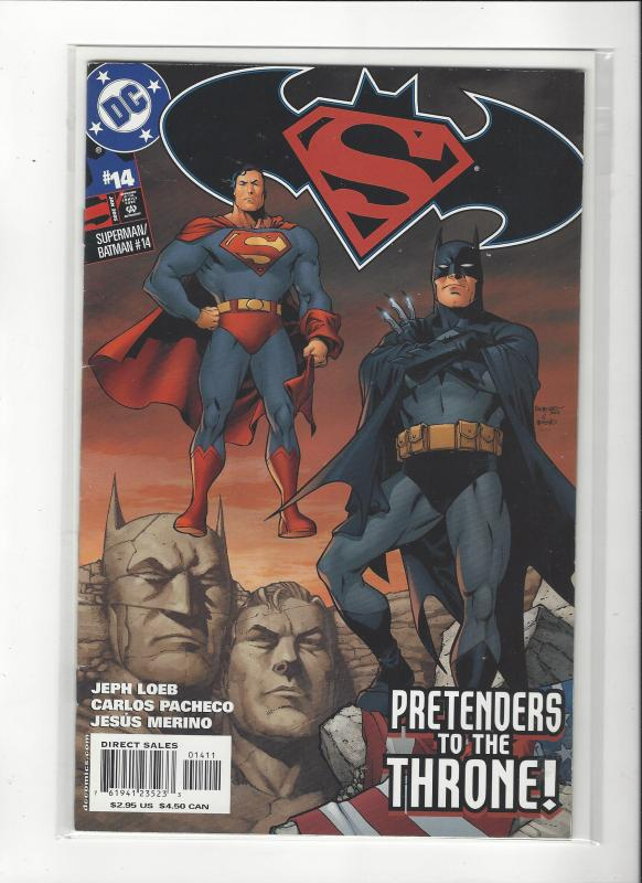 Superman/Batman #14 DC Comics  Carlos Pacheco Art NM