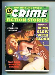 CRIME FICTION STORIES-DEC 1950-PULP-RARE-SMALL-SOUTHERN STATES PEDIGREE-fn/vf
