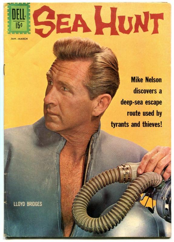 Sea Hunt #12 1962- LLOYD BRIDGES-TV PHOTO COVER-FROGMAN vg