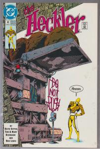 THE HECKLER #4 - BAGGED AND BOARDED - DC COMIC 1992