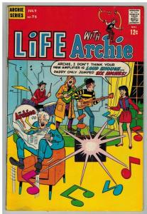 LIFE WITH ARCHIE (1958-    ) 75  July 1968 GOOD+