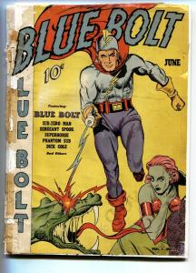Blue Bolt #1 1940-Joe Simon-Origin issue-Bargain copy-Golden-Age
