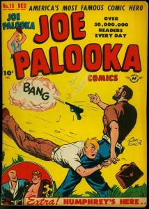Joe Palooka #15 1947-Harvey Comics- Ham Fisher- 1st Atoma- Bob Powell G/VG