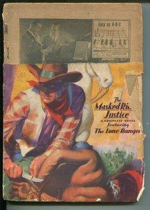 Lone Ranger 5/1937-Trojan-HJ Ward cover-bound Tonto-rare hero pulp-FR