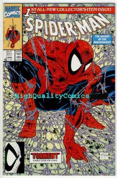 SPIDER-MAN #1, NM+, Todd McFarlane, 1990, Lizard, Torment, more SM in store