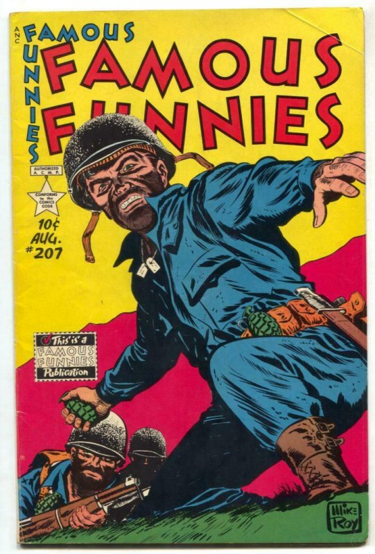 Famous Funnies #207 1953- War cover- Dickie Dare VG+
