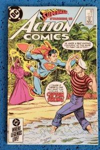 Action Comics #566 (DC, 1985) NM- 9.2 Superman, Captain Strong