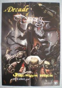 DARKNESS / DECADE Promo poster, 14x20, 2006, Unused, more Promos in store