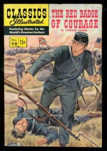 CLASSICS ILLUSTRATED #98 HRN 98-RED BADGE OF COURAGE VG