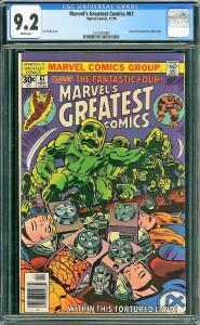 MARVEL'S GREATEST COMICS #67, CGC 9.2 NM-