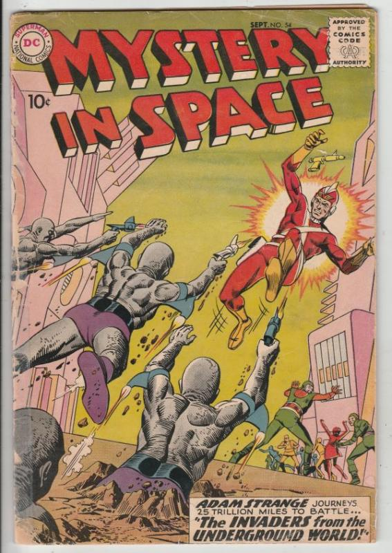 Mystery in Space #54 (Sep-59) VG- Affordable-Grade Adam Strange
