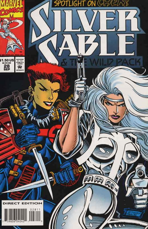 Silver Sable #28 VF/NM; Marvel | save on shipping - details inside