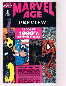 Marvel Age Preview (1990) #1Marvel Comic Book Spider-Man Captain America HH3