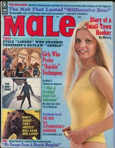 Male 8/1972-Atlas-motorcycle gang-spicy pulp fiction-Pollen-Norem-cheesecake-VG