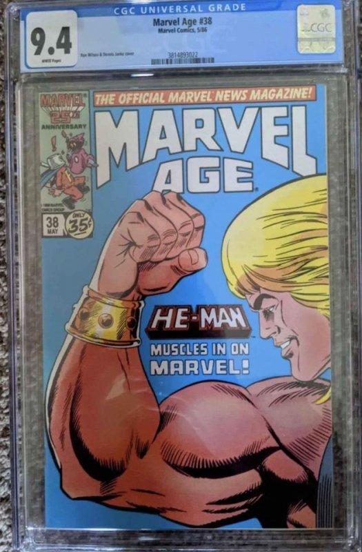 Marvel Age #38 (1986) CGC 9.4
