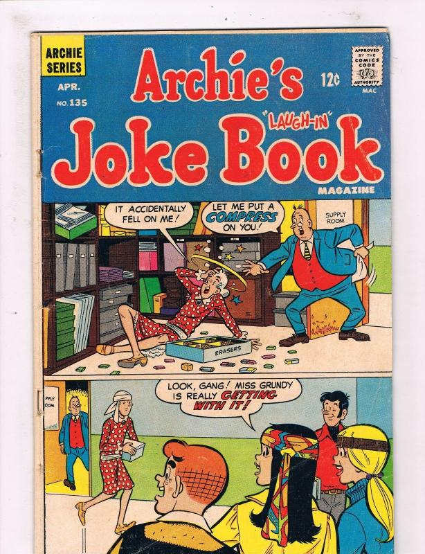 Archie's Joke Book # 135 VG Archie Series Comic Book Betty Veronica Jughead SW12