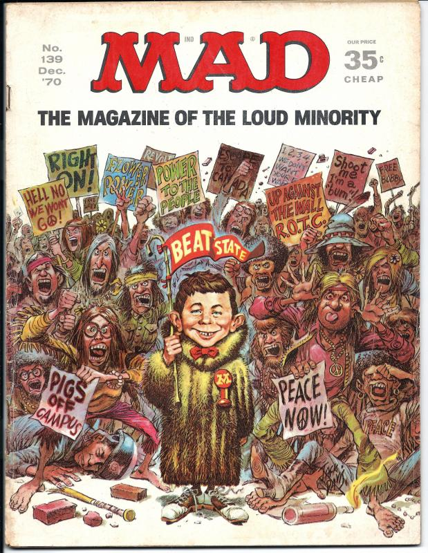 Mad No. 139,  Dec, 1970 (GD+)