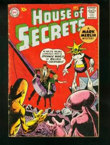 HOUSE OF SECRETS #32 1960-MARK MERLIN-DC COMICS-WILD COVER-very good VG