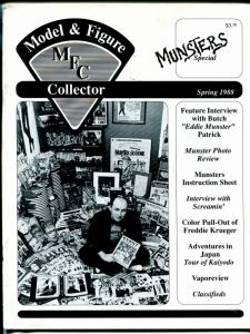 Model  & Figure Collector-Spring 1988-Munsters issue-Freddy Kruger poster-FN
