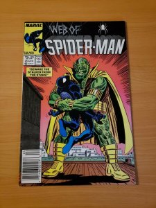 Web of Spider-Man #25 Newsstand Edition ~ VF - NEAR MINT NM ~ (1987 Marvel)