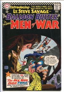ALL-AMERICAN MEN OF WAR #114-1966-DC-BALLOON BUSTER-LT SAVAGE-BLACK COVER-vf